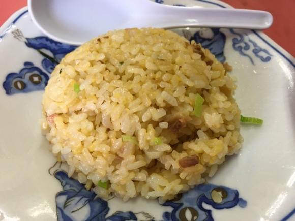中華料理「寳華園」のラーメン+半チャーハンセットの半チャーハンです