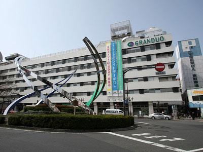JR蒲田駅東口と駅ビル「グランディオ」