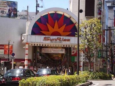 JR蒲田駅西口の「サンライズ商店街」