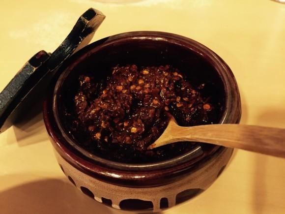 こってりラーメンで有名な「天下一品 蒲田店」の定番こってりラーメンに特製辛子味噌をトッピング