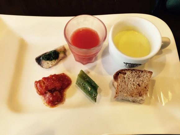 蒲田西口にあるイタリア料理で有名な「ゴンドレッタ(gondoletta)」のランチの前菜です