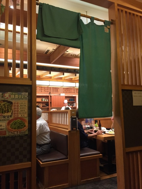「築地日本海 蒲田店」の半個室です