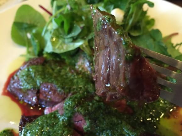 蒲田西口にあるイタリア料理で有名な「ゴンドレッタ(gondoletta)」のランチで頼んだ牛ハラミも美味しかったです