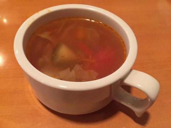 「ステーキハウス びっくり亭」の「ステーキランチ」につくスープです