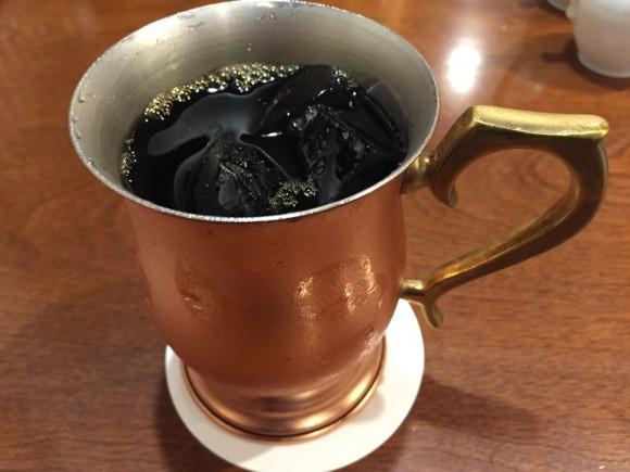 「椿屋カフェ グランディオ蒲田店」のランチで頼んだアイスコーヒーです