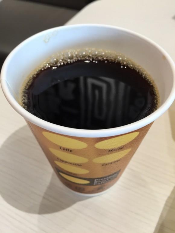 マクドナルドのハンバーガー「エグチセット」のコーヒーです