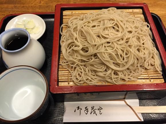 蒲田でも老舗のお蕎麦屋さん「増田屋」の大せいろそばです