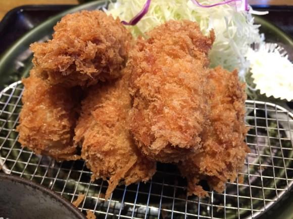「とんかつ和幸」の「かきフライ」は美味しいです!