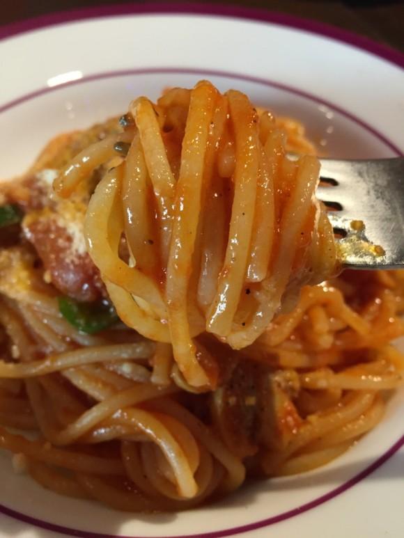 パスタ専門店「パスタバル ドン ピノキオ」のナポリタンです は、もちもちの麺が凄く美味しいです
