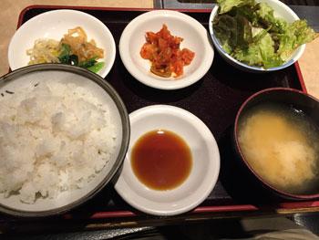 蒲田焼肉ランチ「焼肉 慶州苑」の焼肉定食のセット