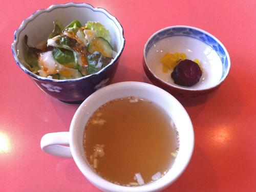 大森洋食ランチ「レストラン西堀」の日替わりランチにっにつく3点セット
