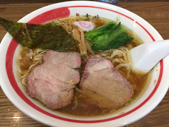 大井町にある中華そば屋さん「麺壱 吉兆」の「中華そば」です