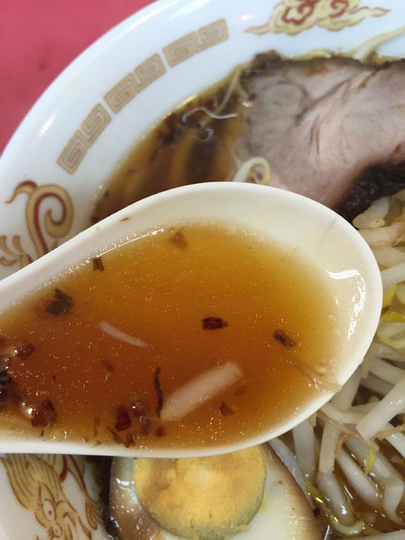 大井町ラーメンランチ「中華そば 永楽」のラーメンのスープが絶妙