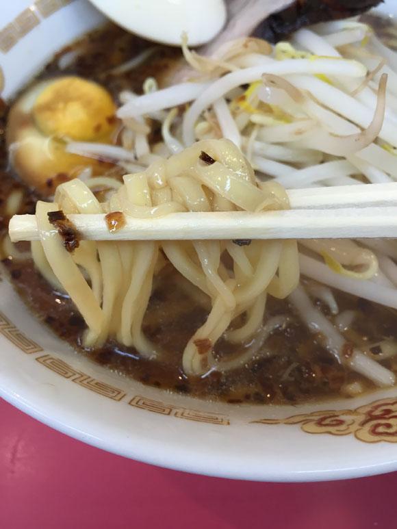 大井町ラーメンランチ「中華そば 永楽」のラーメンの麺は柔らかい