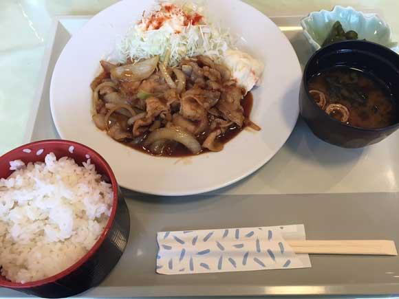 大田区産業ブラザ内にあるレストラン「コルネット」のポーク生姜焼き定食
