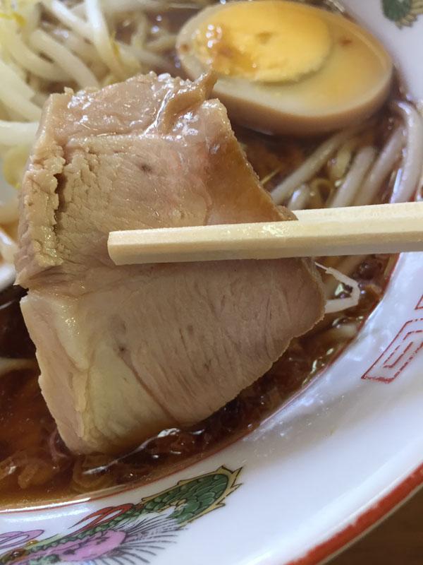 大森「中華料理 喜楽」ラーメンのチャーシューです
