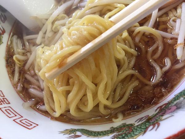 大森「中華料理 喜楽」ラーメンの麺です